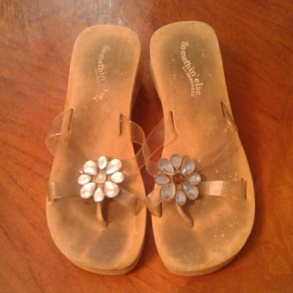 Skechers Somethin Else Rhinestone Sandals Shoes 7